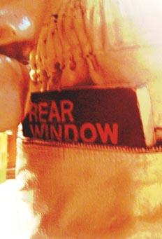 Rear Window in sculpture's pocket